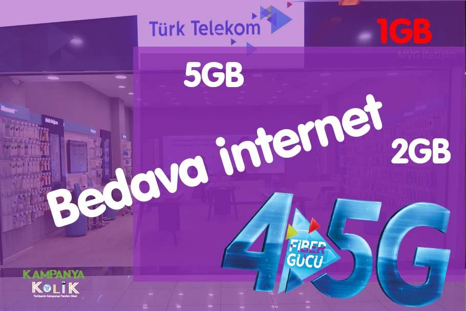 Türk telekom faturasız bedava internet